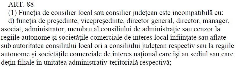 art 88 consilieri locali
